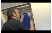 How to install a roof window blind