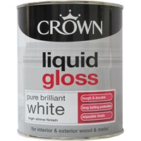 Crown  Liquid Gloss Brilliant White Paint - 750ml