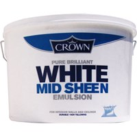 Crown  Midsheen Brilliant White Paint - 10 Litre