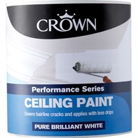 Crown  Ceiling Paint Brilliant White - 2.5 Litre