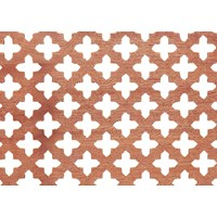 Applications  Screening Panel MDF Four Leaf Clover Pattern - Mahogany
