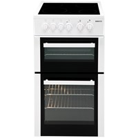 Beko  Freestanding Double Oven Electric Cooker with RapidLite White - BDVC563A