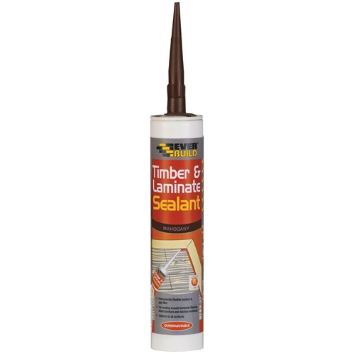 Everbuild  Timber & Laminate Sealant 310ml - Mahogany