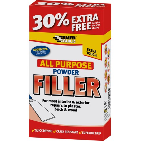 Everbuild  All Purpose Powder Filler - 450gm + 30% Extra Free