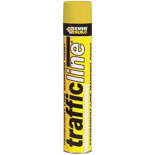 Everbuild  Trafficline Paint 700ml - Yellow