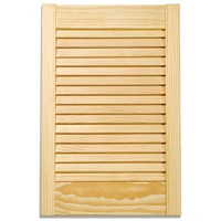 Applications  Pine Louvre Kitchen Cabinet Door - 18in