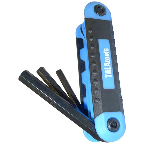 Tala  Metric Folding Hex Key Set - 8 Piece