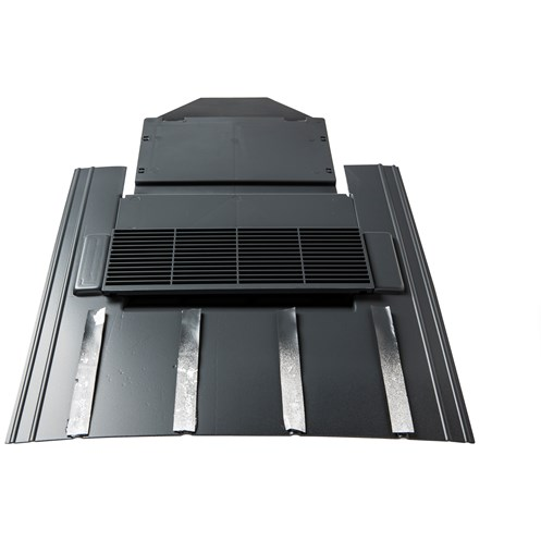 Tegral  TPV11 Nature Slate Vent with Pipe Adaptor 50 x 25cm - Grey