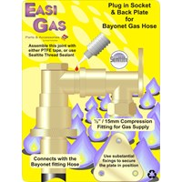 Easi Gas  Ordinary Cooker Plug in Socket & Back Plate