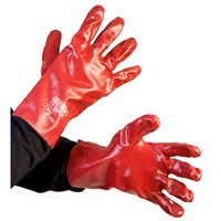 Bodyworks  PVC Gloves - Red