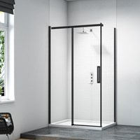 Merlyn  Black Sliding Door Side Panel