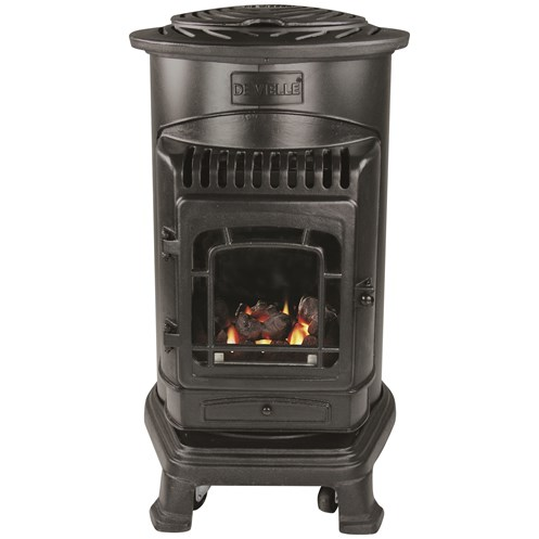 De Vielle  Traditional Cast Iron Gas Heater - 3kW