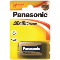 Panasonic  Alkaline Power Batteries - 9V