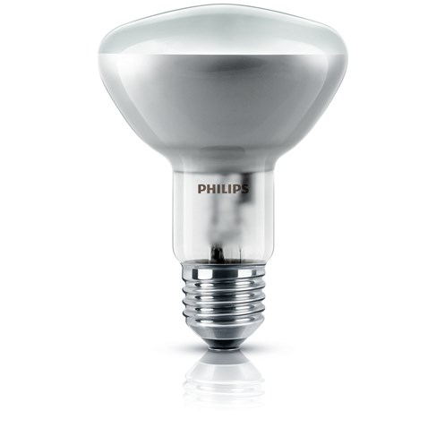 Philips  E14 R80 Reflector Light Bulb 2 Pack Blister - 60W
