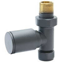 Aqualla  Anthracite Round Straight Valve (Pair)